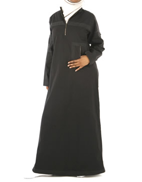 Modern unique innovative black Abay / jilbab