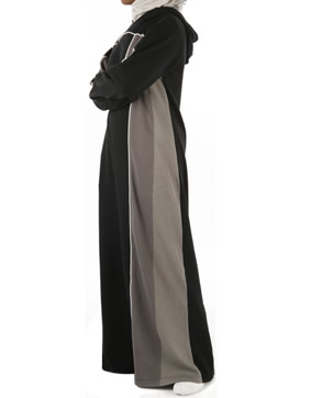 black Abaya - Sports look design Abaya / Jilbab