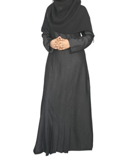 Unique casual design charcoal Abaya / jilbab