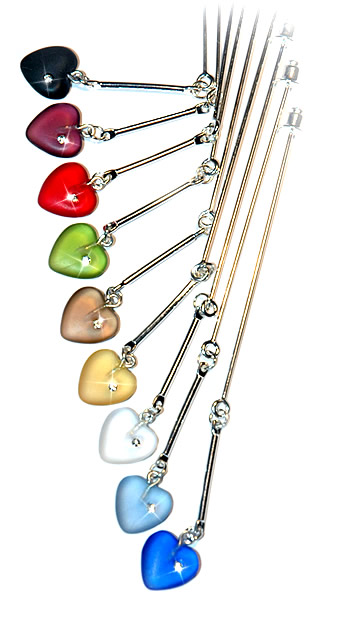 Hijab Pin - Frosted Glass Heart Hijab Pin