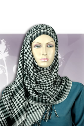 Shemagh style Hijab Scarf - Hijabs