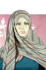Striped hijab Scarf - Hijabs